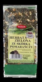 Herbata zielona ze skórką pomarańczy 200g liść