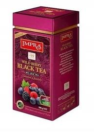 Czarna herbata liściasta z kawałkami owoców